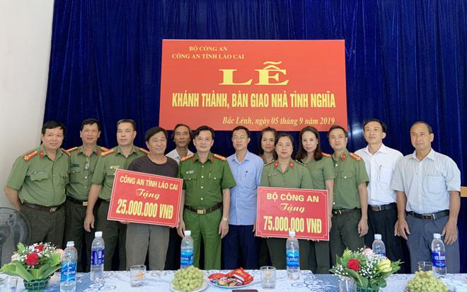 Công an tỉnh Lào Cai khánh thành nhà tình nghĩa