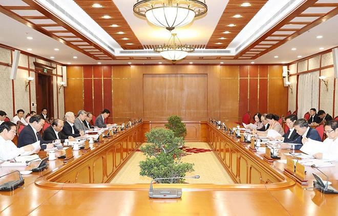 Tổng Bí thư họp Bộ Chính trị về nhiệm vụ của Ban Chỉ đạo TW về phòng chống tham nhũng