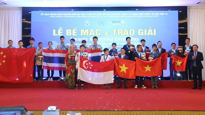 Việt Nam giành 36 Huy chương tại cuộc thi Olympic Toán và Khoa học quốc tế 2019