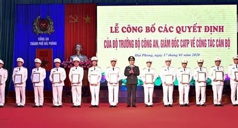Hải Phòng công bố lãnh đạo Công an các đơn vị và địa phương