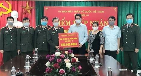 Công an tỉnh Sơn La hỗ trợ 850 triệu đồng phòng chống dịch COVID-19