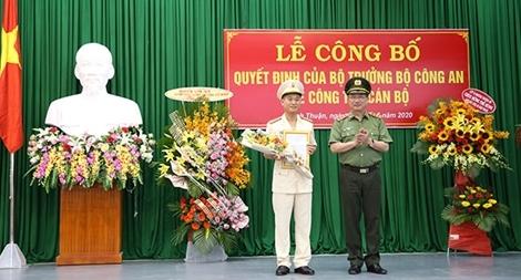 Bổ nhiệm Giám đốc Công an tỉnh Ninh Thuận