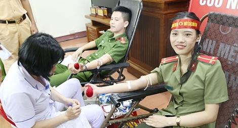 173 cán bộ, chiến sỹ Công an Hà Tĩnh hiến 135 đơn vị máu