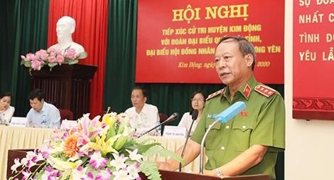 Thứ trưởng Lê Quý Vương tiếp xúc cử tri tại 2 huyện của tỉnh Hưng Yên