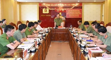 Thứ trưởng Nguyễn Văn Thành kiểm tra công tác chuẩn bị ĐH Đảng bộ CA tỉnh Thanh Hóa