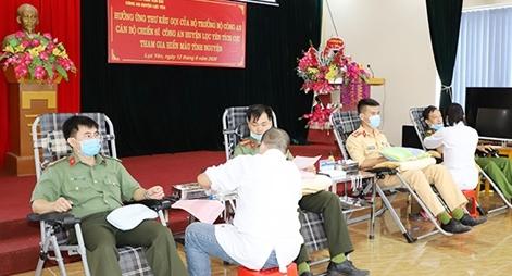 Công an Yên Bái hiến trên 130 đơn vị máu