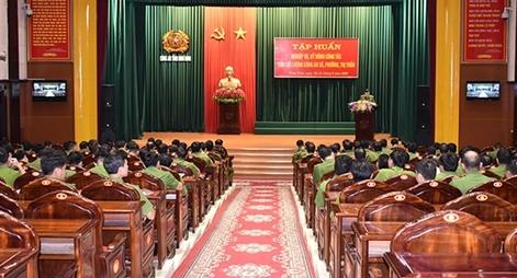 Tập huấn nghiệp vụ cho lực lượng Công an xã, phường, trị trấn