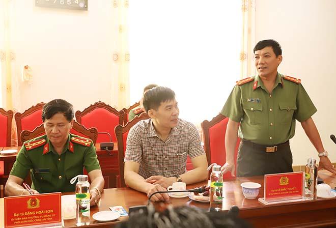 Thứ trưởng Nguyễn Văn Thành làm việc tại Công an tỉnh Hà Tĩnh - Ảnh minh hoạ 2