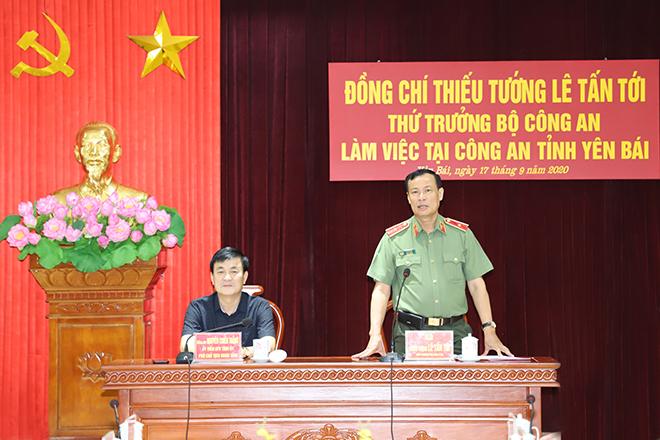 Thứ trưởng Lê Tấn Tới làm việc tại Công an tỉnh Yên Bái - Ảnh minh hoạ 2