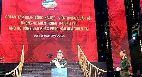 Viettel quyên góp 10 tỷ đồng hỗ trợ đồng bào miền Trung