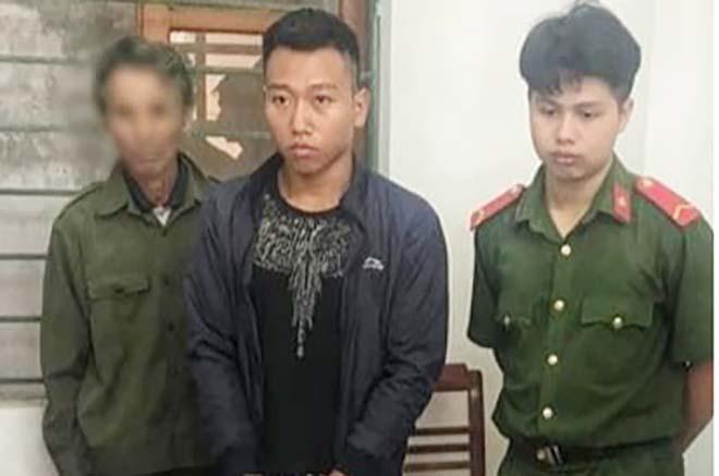 Đối tượng Nguyễn Quang Linh tại thời điểm bị bắt giữ.