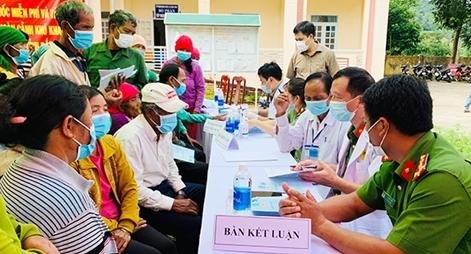 Bệnh viện 19-8 khám bệnh, trao quà cho đồng bào nghèo Tây Nguyên