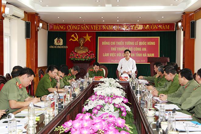 Thứ trưởng Lê Quốc Hùng làm việc với Công an tỉnh Hà Nam - Ảnh minh hoạ 2