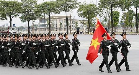 Tổng duyệt xuất quân và diễn tập phương án bảo vệ Đại hội Đảng lần thứ XIII