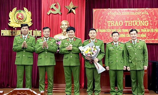 Khen thưởng Phòng CSCĐ Công an tỉnh Thanh Hóa trong đấu tranh trấn áp tội phạm - Ảnh minh hoạ 2