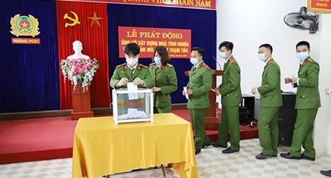 Công an tỉnh Yên Bái tổ chức phát động ủng hộ xây dựng nhà tình nghĩa