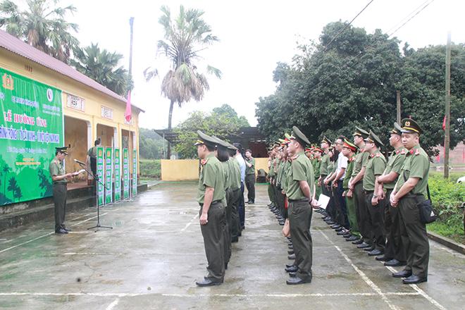 Cục An ninh Chính trị Nội bộ trồng 1000 cây sao đen tại Phú Thọ