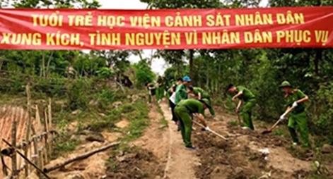 Học viện CSND với chương trình xã hội tình nghĩa tại huyện Mường Lát