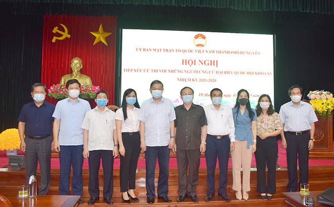 Bộ trưởng Tô Lâm và các ứng viên trình bày chương trình hành động với cử tri Hưng Yên