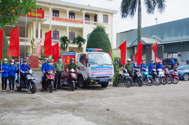 Đoàn Thanh niên Công an tỉnh Thái Nguyên ra quân triển khai đợt cao điểm đảm bảo an ninh, trật tự bầu cử