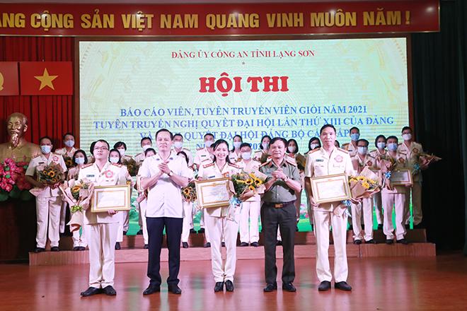 Hội thi báo cáo viên, tuyên truyền viên giỏi năm 2021 ở Lạng Sơn