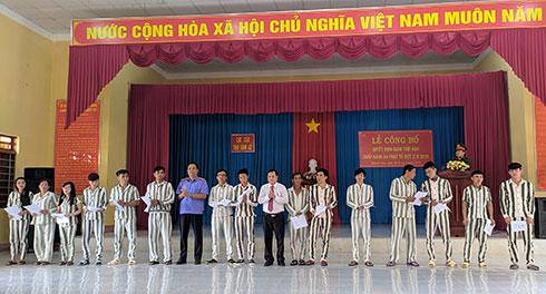 290 phạm nhân ở Khánh Hoà được giảm án