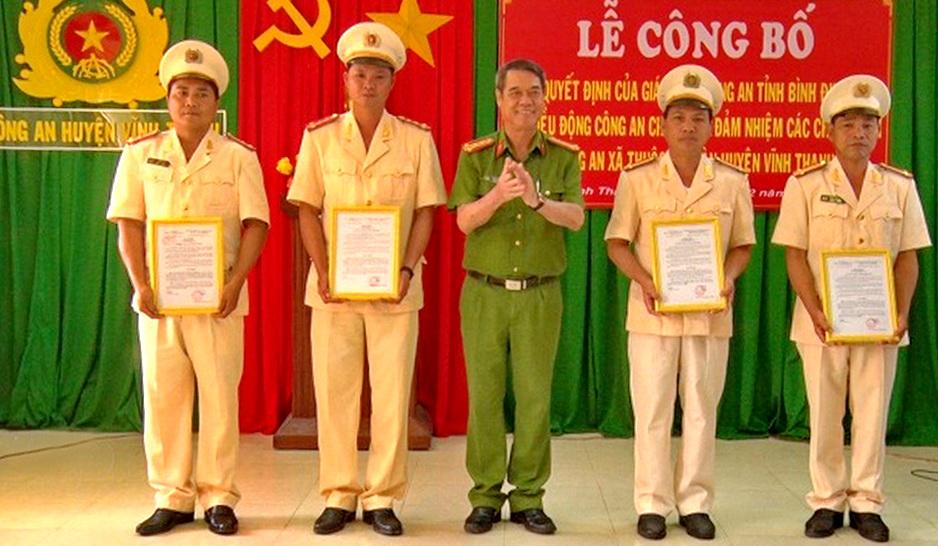 Điều động 7 cán bộ - chiến sĩ Công an huyện  Vĩnh Thạnh về đảm nhiệm chức danh công an xã
