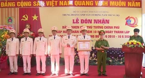 Trung đoàn CSCĐ Nam Trung bộ đón nhận bằng khen Thủ tướng Chính phủ