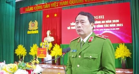 Thứ trưởng Lê Quốc Hùng dự hội nghị tổng kết  công tác Công an tỉnh Phú Yên