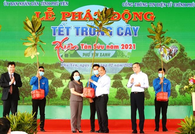 """Thủ tướng Chính phủ dự lễ """"Tết trồng cây"""" xuân Tân Sửu tại Phú Yên"""