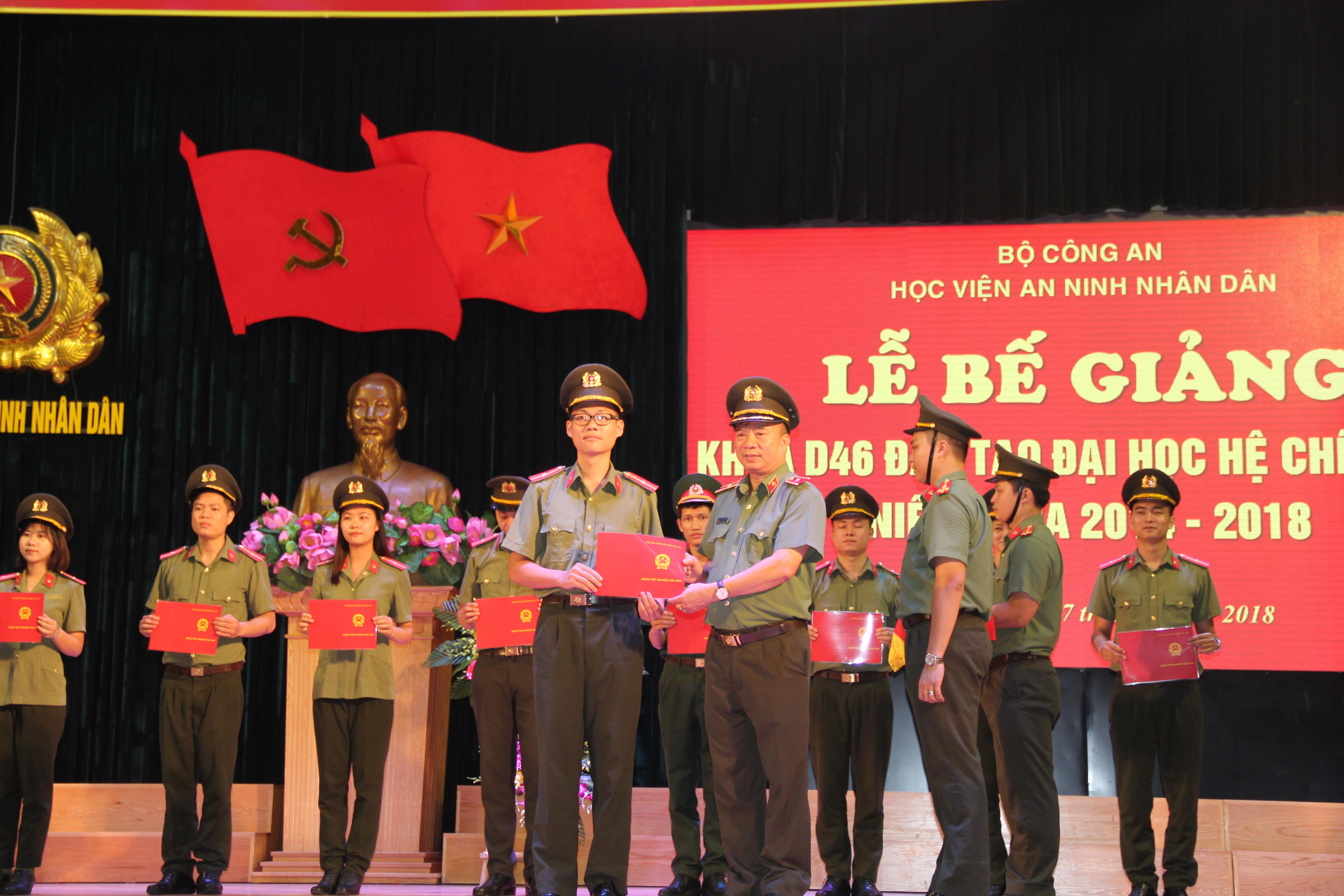 Học viện ANND trao bằng tốt nghiệp cho hơn 800 tân sỹ quan an ninh
