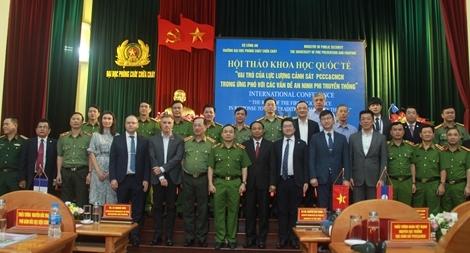 """Hội thảo khoa học quốc tế """"Vai trò của lực lượng Cảnh sát PCCC &CNCH trong ứng phó với các vấn đề an ninh phi truyền thống"""""""