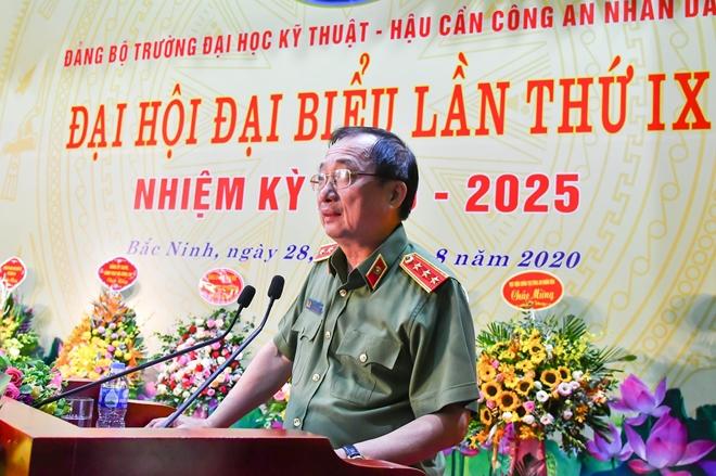 Đại hội đại biểu Đảng bộ trường Đại học Kỹ thuật-Hậu cần CAND nhiệm kỳ 2020-2025