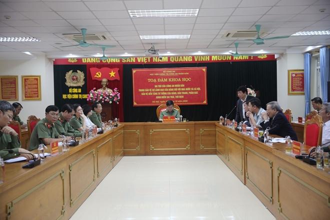 Vai trò của CAND trong bảo vệ sự lãnh đạo của Đảng, nền tảng tư tưởng Đảng