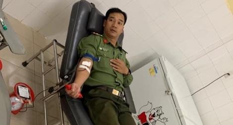 Bệnh viện cảm ơn ba Công an hiến máu hiếm cứu người nguy kịch