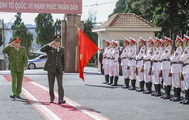 Thứ trưởng Lương Tam Quang làm việc tại Công an Lâm Đồng