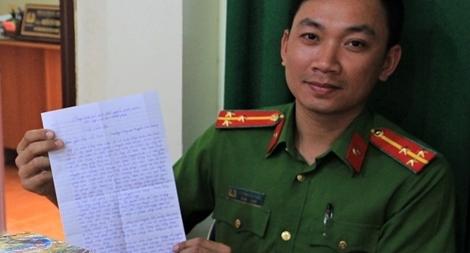 Người dân gửi thư cảm ơn Trưởng Công an huyện Đức Trọng