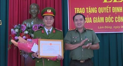 Khen thưởng chiến sĩ Công an nghĩa vụ đạt 29,1 điểm
