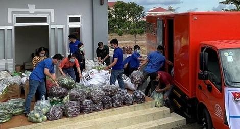 75 tấn lương thực, thực phẩm hỗ trợ các khu cách ly ở TP Hồ Chí Minh