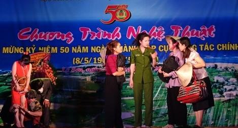 Biểu diễn chương trình nghệ thuật tại đảo Lý Sơn