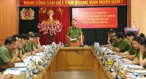 Kiểm tra thực hiện Nghị quyết Trung ương 4 tại Tổng cục Cảnh sát