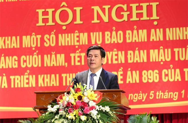 Phát biểu tại hội nghị triển khai một số nhiệm vụ bảo đảm ANTT các tháng cuối năm, Chủ tịch UBND tỉnh Thái Bình Nguyễn Hồng Diên yêu cầu: Nơi nào xảy ra pháo nổ hay thả đèn trời trong đêm Giao thừa, người đứng đầu nơi đó phải chịu trách nhiệm.