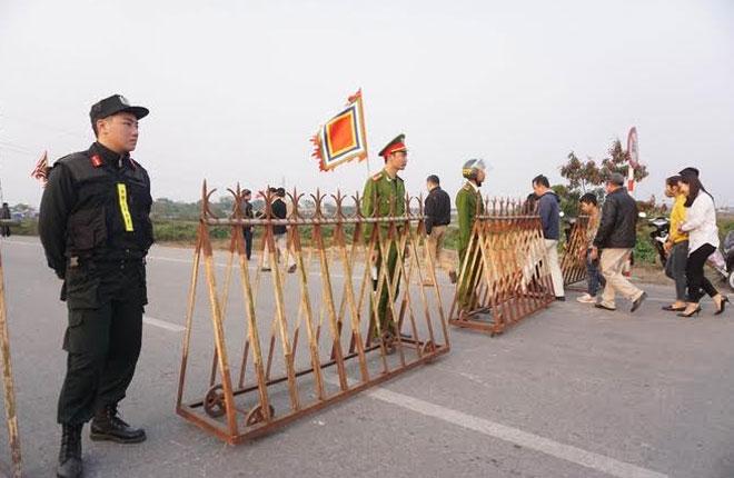 5 vòng và 23 chốt bảo vệ cho đêm khai ấn Đền Trần