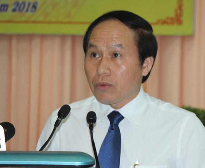 Ông Lê Tiến Châu, Chủ tịch UBND tỉnh Hậu Giang, phát biểu cảm tưởng.