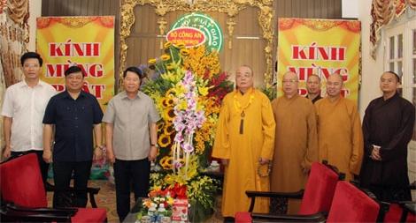 Bộ Công an chúc mừng tăng ni, phật tử Giáo hội Phật giáo Việt Nam