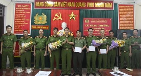 Phòng Cảnh sát Hình sự Công an tỉnh Nghệ An liên tiếp lập chiến công