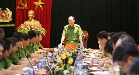 Thứ trưởng Lê Qúy Vương làm việc với Cục Cảnh sát PCCC và CNCH