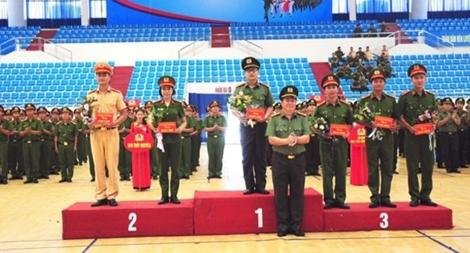 Công an Hải Phòng Chung kết hội thi Điều lệnh, quân sự, võ thuật 2018