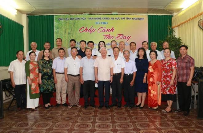 """CLB Công an hưu trí tỉnh Nam Định """"trình làng thơ phú buổi đầu tiên"""""""