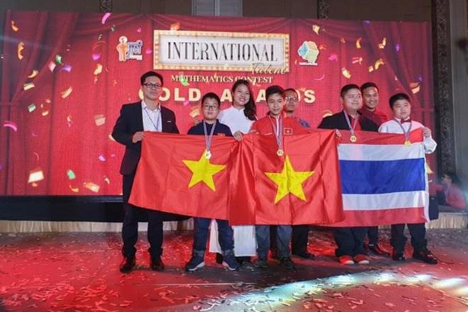 Học sinh Việt Nam giành Huy chương vàng tại cuộc thi Tìm kiếm tài năng Toán quốc tế 2019.